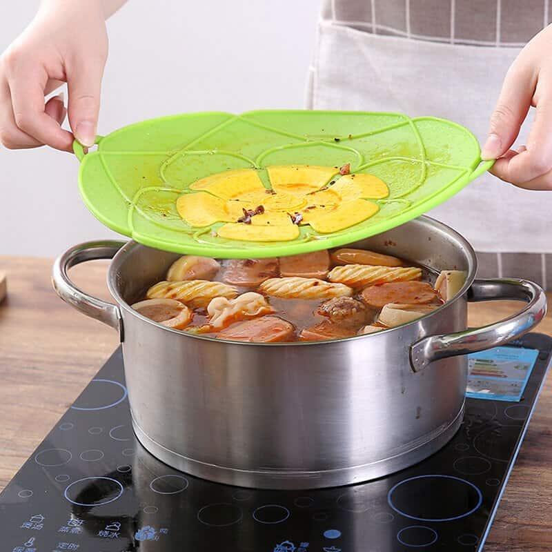 A woman preparing food in a bowl